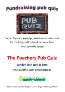 Fundraising pub quiz at the Poachers @ Poachers