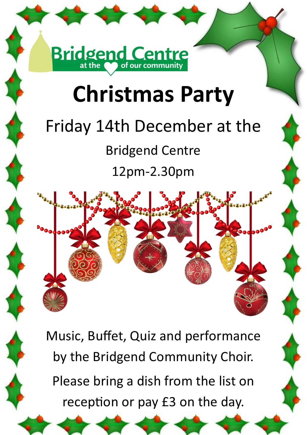 Christmas Party at The Bridgend Centre