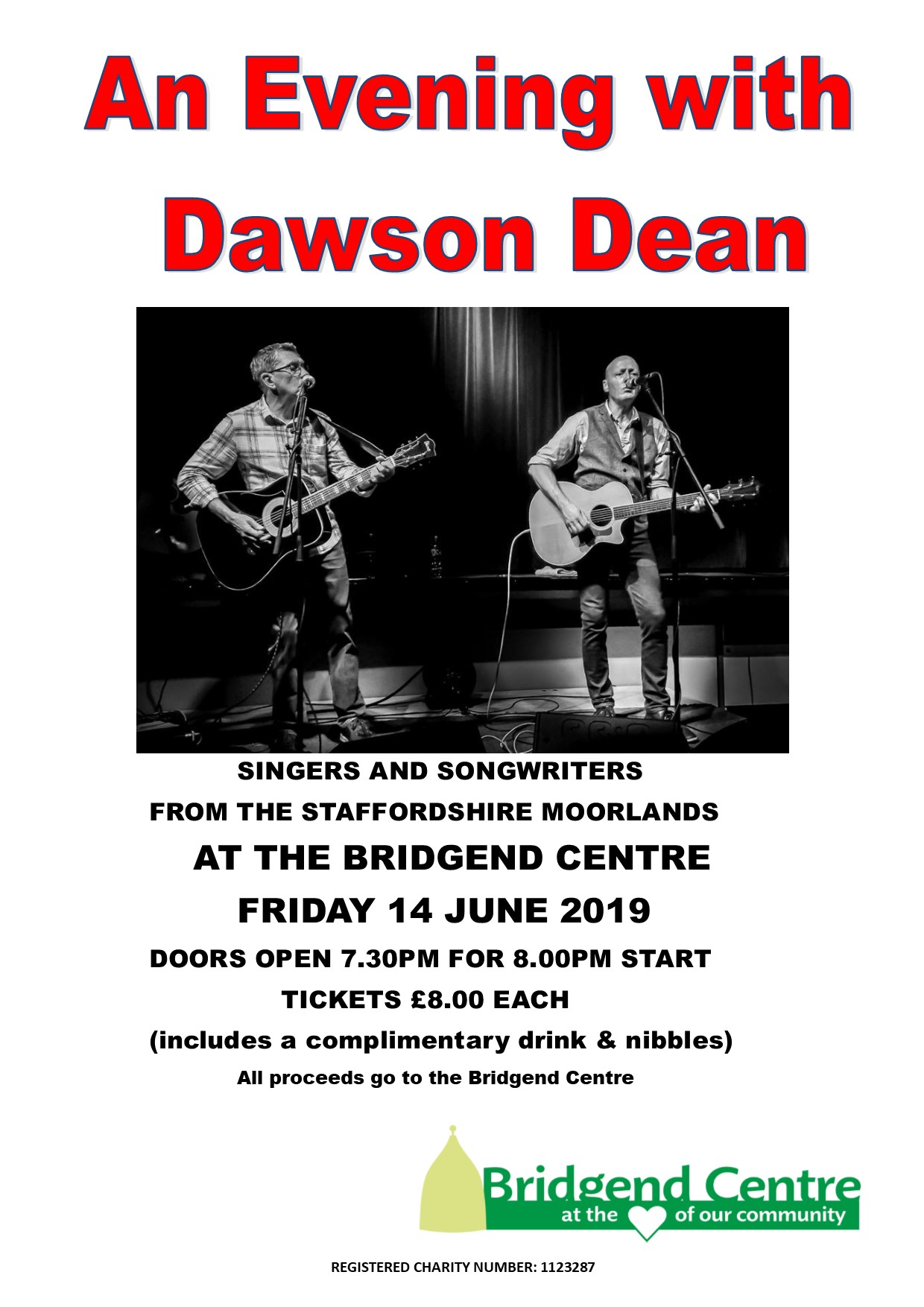 An evening with Dawson Dean @ Bridgend Centre